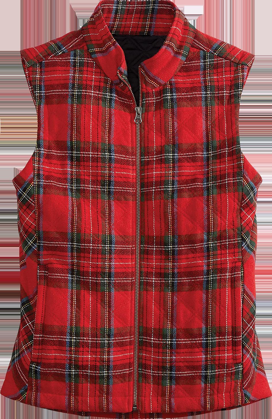 Women's Quilted Tartan Plaid Vest