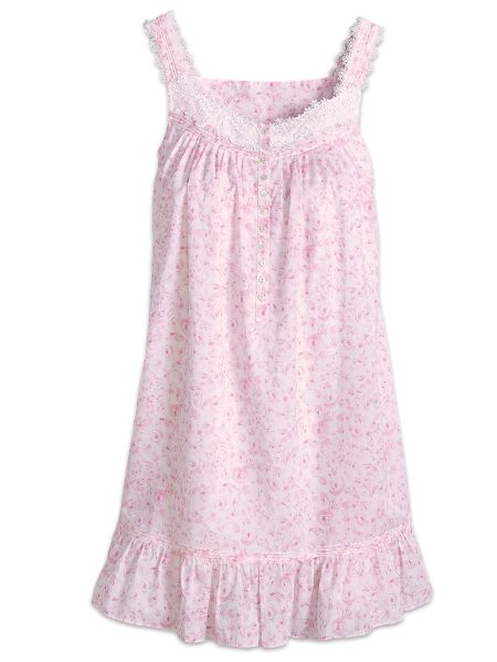 Cotton Chemise Nightgown with Blush Roses by Eileen West c0c85aabe