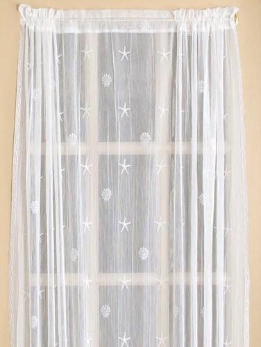 Seaside Sidelight Door Panel Curtain
