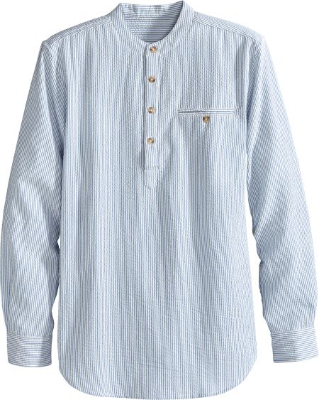 Mens Long-Sleeve Seersucker Sunday Shirt 939aedce1