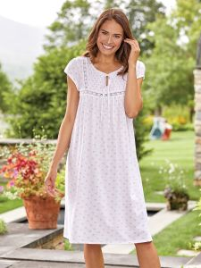 a5377971f0b9 Eileen West Smocked Sweetheart Nightgown