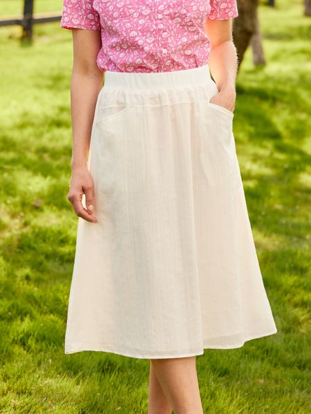 93187d80972 Crinkle Skirt with Pull On Wide Elastic Waist