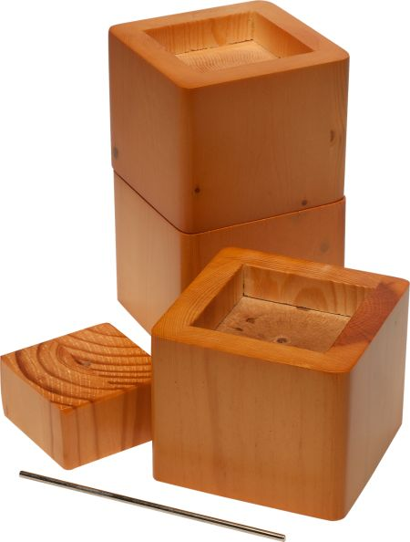Wood Bed Risers Set Of 4 Stackable, Wood Risers For Furniture
