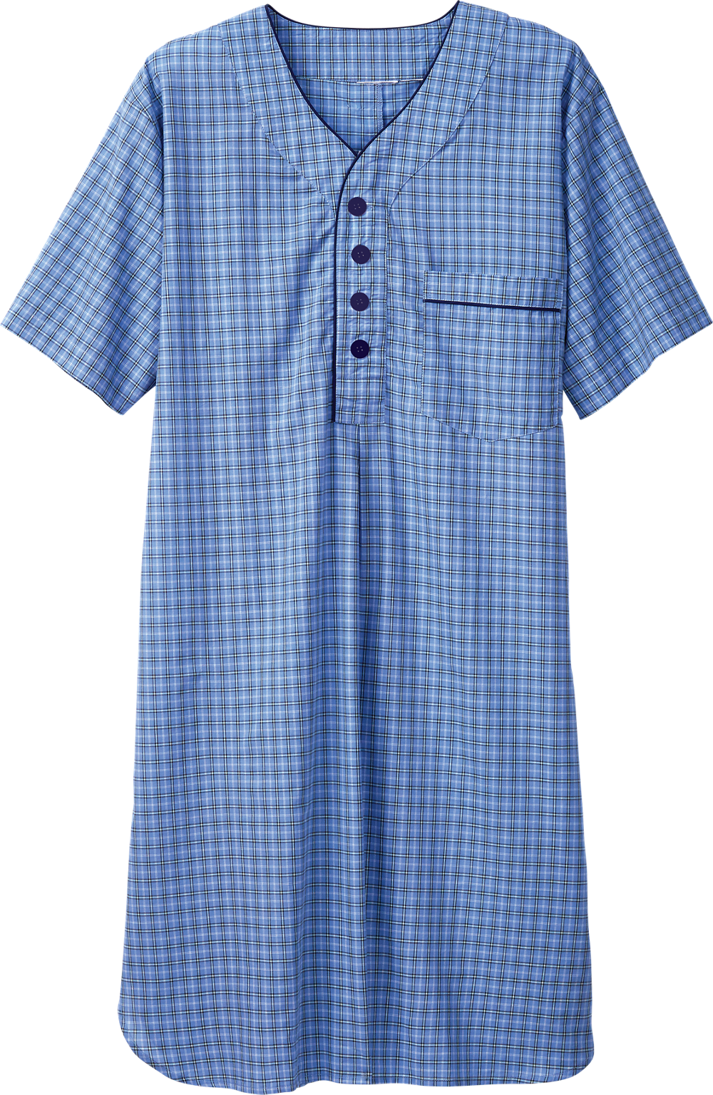 Short-Sleeve Nightshirt for Men