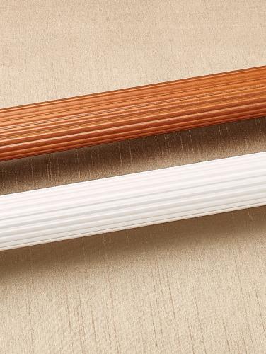 Sloan Fluted Wood Curtain Rod 1 38 Diameter