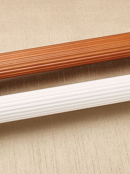 Fluted Wood Curtain Rod - 1 3/4 in. Diameter