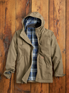 e04e90aca03 Mens Lightweight Hooded Canvas Jacket