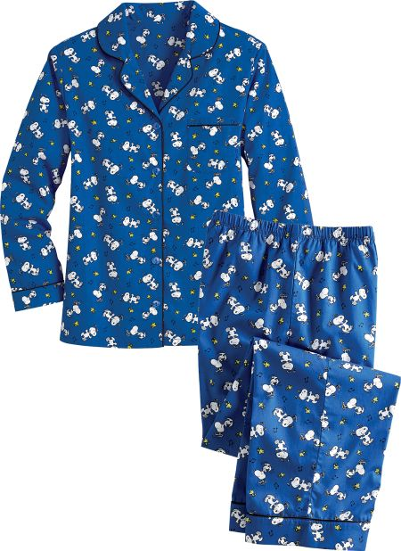 Women s Peanuts Snoopy and Woodstock Cotton Broadcloth Pajamas e893adf67