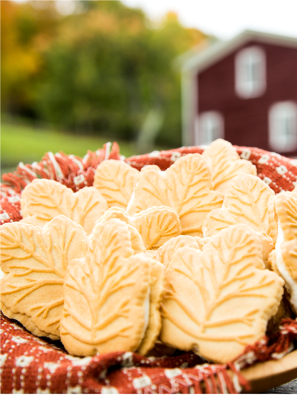 Maple Leaf Cream Cookies, 2 Boxes
