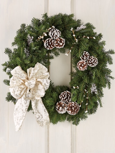 Winter Elegance Balsam Christmas Wreath 24 Inch