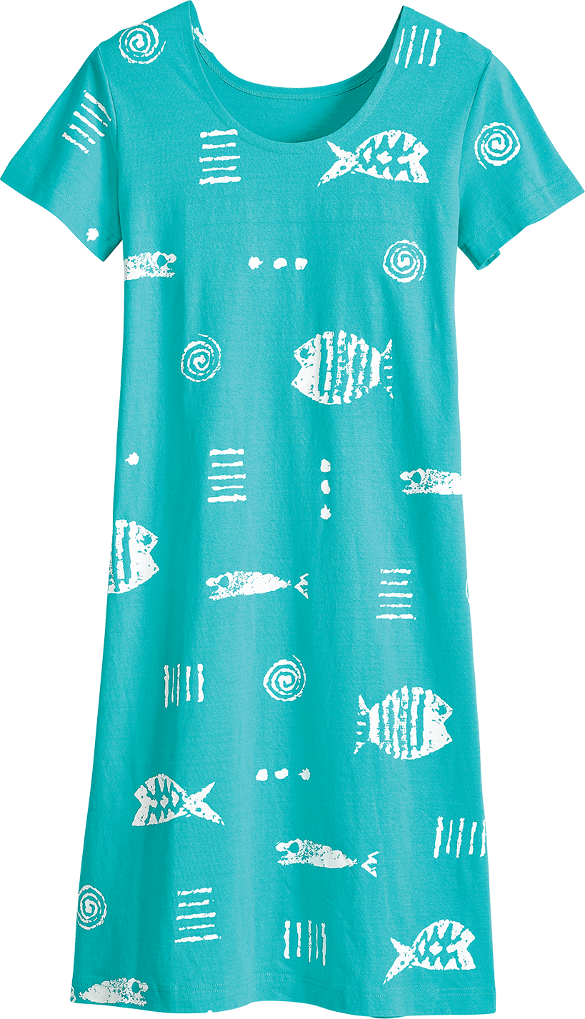 M.MAC Rock Fish Mid-Length Dress