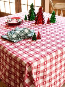 Lanz Christmas Tree Tablecloth