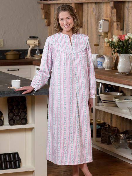 Lanz of Salzburg Flannel Nightgown - Tyrolean Print e631d7c054
