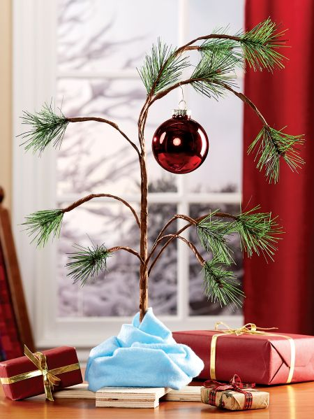 charlie brown christmas tree with blanket tree skirt
