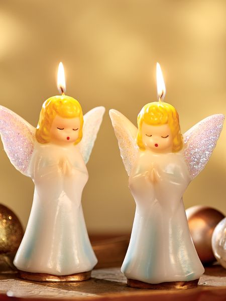 Vintage Angel Candles | Gurley Christmas Candles