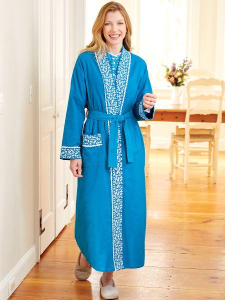Eileen West Flannel Wrap Robe  ee6055a7d