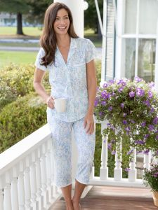 346c513473 Eileen West Blooming Floral Pajamas