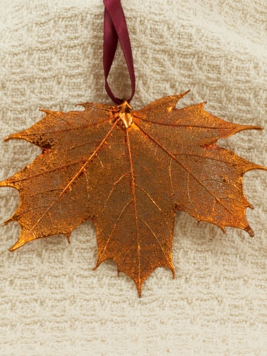 real sugar maple leaf copper ornament copper maple leaf ornament