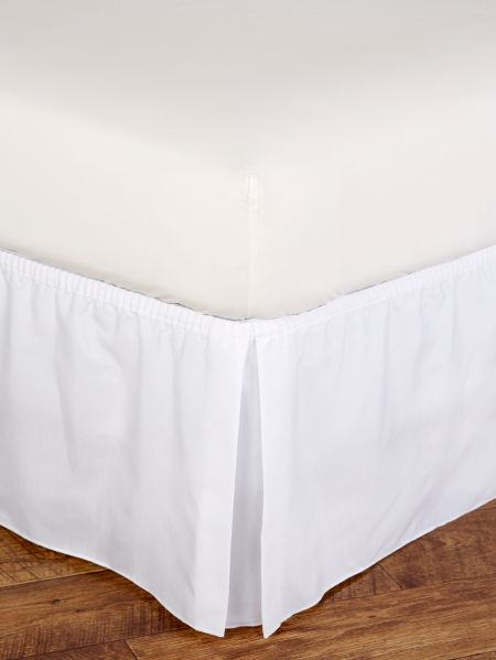 Tailored Dust Ruffle Wrap Around Bed, Wrap Around Bed Skirt Queen Size