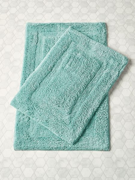 Cotton Bath Rug Two Piece Set