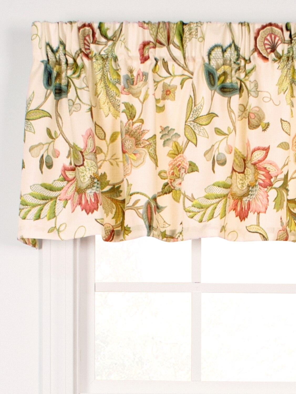 Jacobean Floral Printed Window Valance
