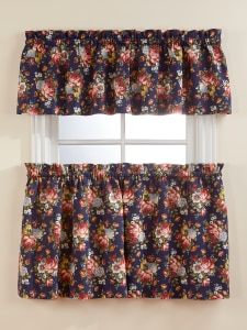 Tapestry Print Curtains Floral Window Valance