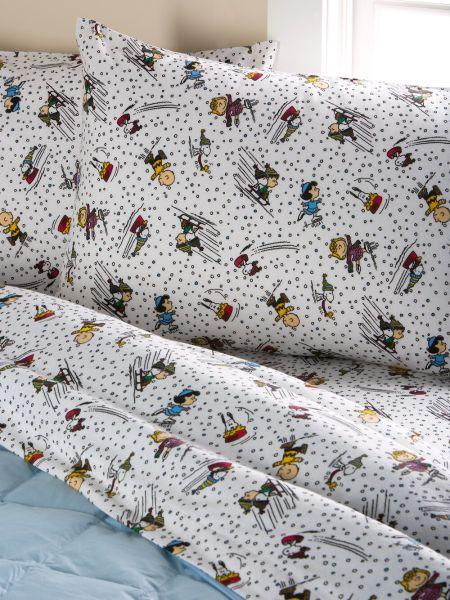 Peanuts Snow Fun Flannel Sheet Set