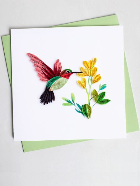 Paper quilled hummingbird cards set of 2 hummingbird quilling cards set of 2 m4hsunfo
