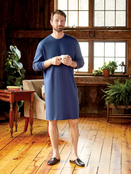 Mens Cotton Knit Sleepshirt  25442a56c