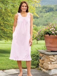 4a52a6c277 Womens Seersucker Sleepwear - Seersucker Pajamas and Nightgowns