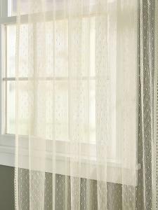 Point D Esprit Sheer Curtain Panel