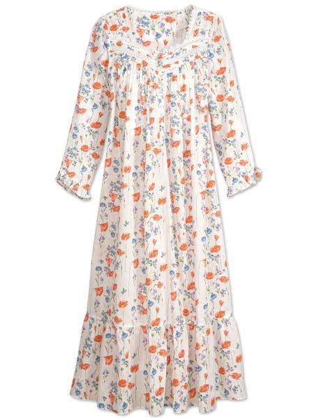 Eileen West Floral Nightgown with Poppy Print 5d1a0d3ed