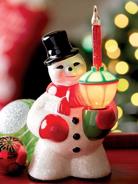 Snowman Liquid Filled Bubble Light