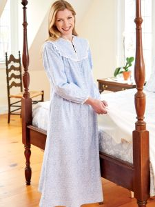 c1fbe0996f Lanz Vintage Floral Flannel Nightgown