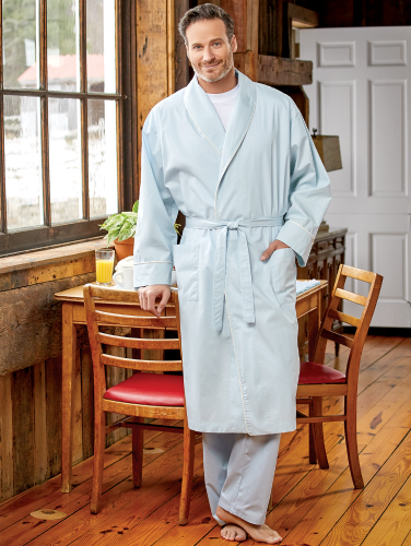 pretty cool quality finest selection Men's Percale Wrap Robe