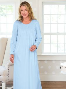 Womens Long Sleeve Nightgowns - Vermont Country Store fd016f9ae572