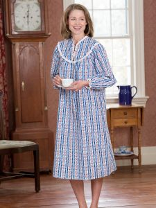 c69e65c9cd4a Lanz Mid Length Tyrolean Flannel Nightgown