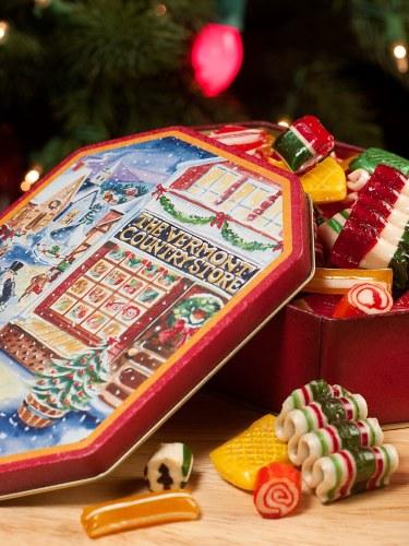Christmas Gift.Country Store Hard Candy Christmas Gift Tin