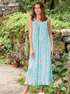 Eileen West Shimmering Floral Modal Nightgown e66d91236