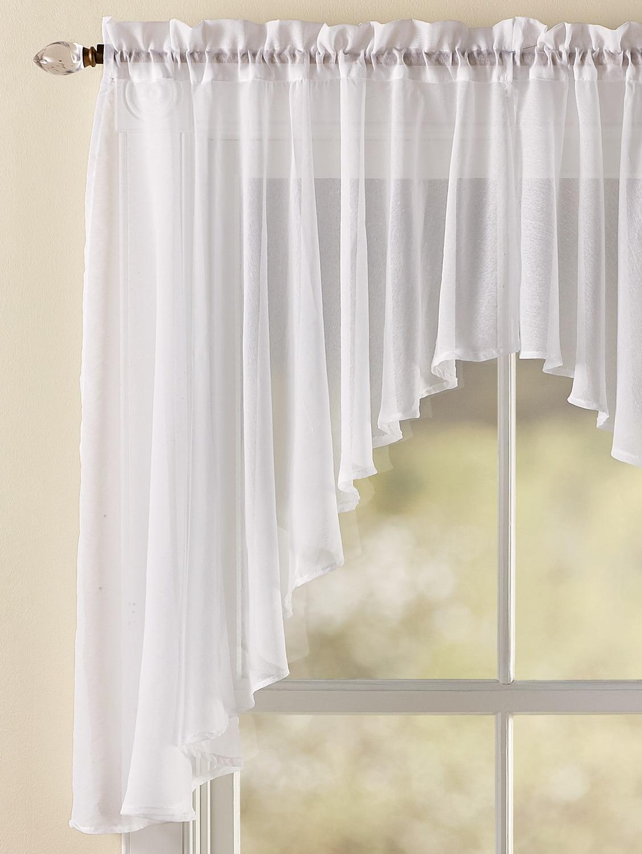 Rod Pocket Semi-sheered Curtain Valance Half-shading Lace Curtain Tier