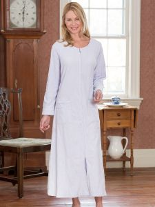 d3e27bf3096 Eileen West Pamper-Perfect Velour Robe With Full Front Zipper