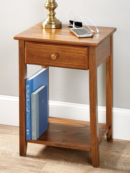 Charging Station Side Table With U S B Ports