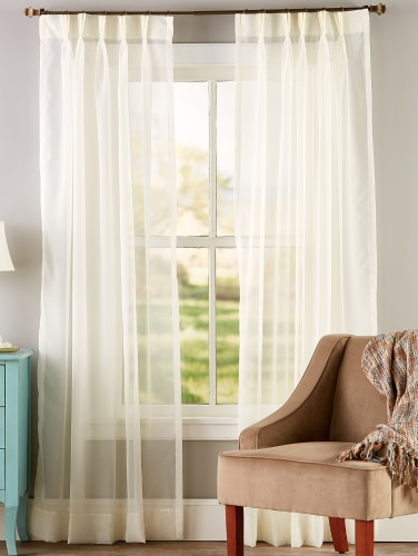 Clic Wide Pinch Pleat Voile Curtains