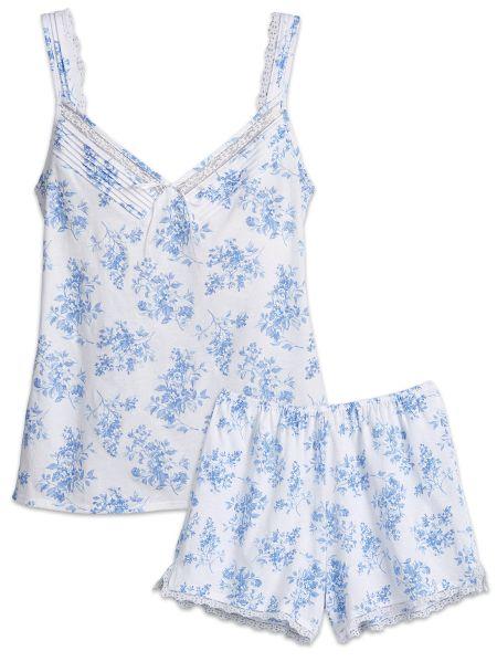 657050e229 Eileen West Pajama Short Set - Blue Cotton PJs