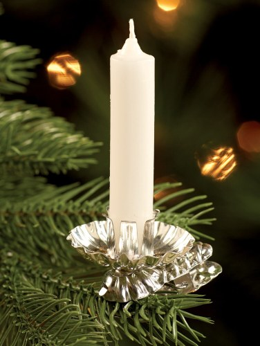 Christmas Tree Candle Holder.Pressed Tin Christmas Tree Candleholder Clips Set Of 10