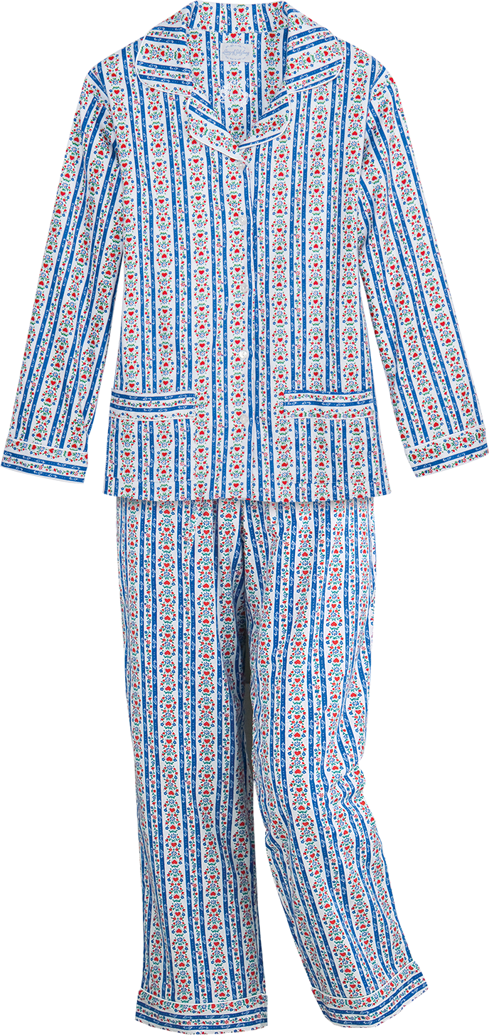 Lanz of Salzburg Tyrolean Flannel Pajamas