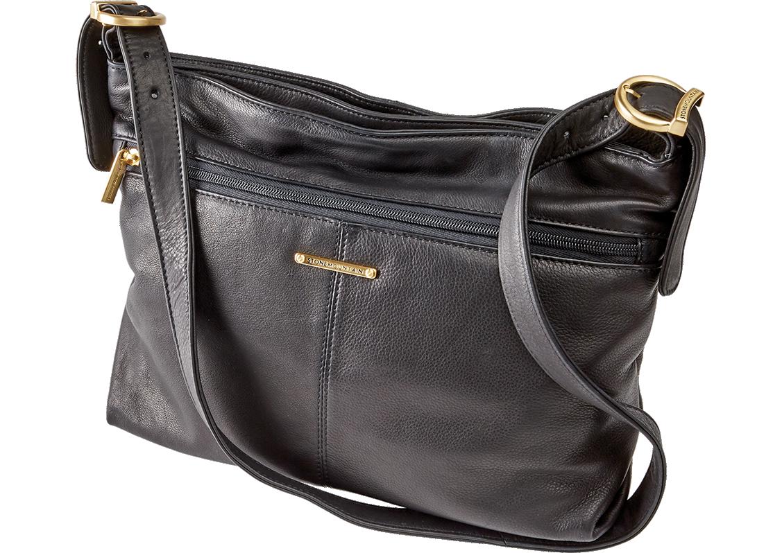 Stone Mountain Hampton Handbag | Black Leather Purse