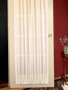 Cotton Voile Rod Pocket Door Panel