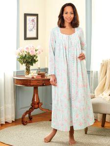 de747c6ab03 Eileen West Aqua Floral Robe for Women