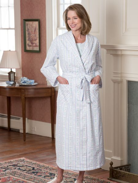 Lanz of Salzburg Flannel Robe  5e9c9792c